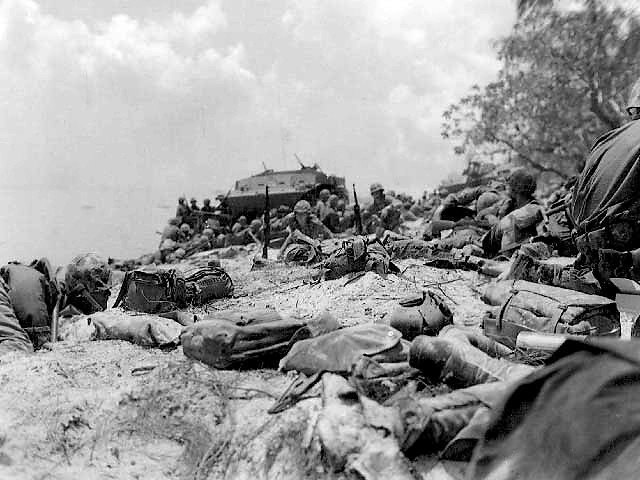 Red Beach during the Battle of Saipan